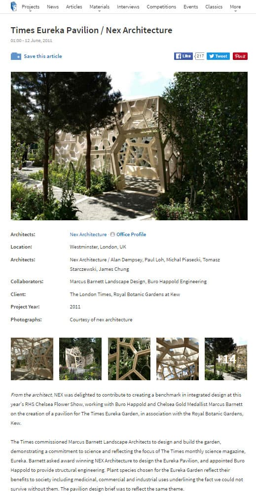 arche daily webpage